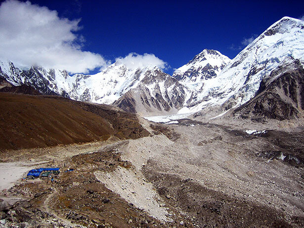 El campo base del Everest