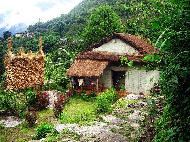 Casa típica de la zona cerca de Surke