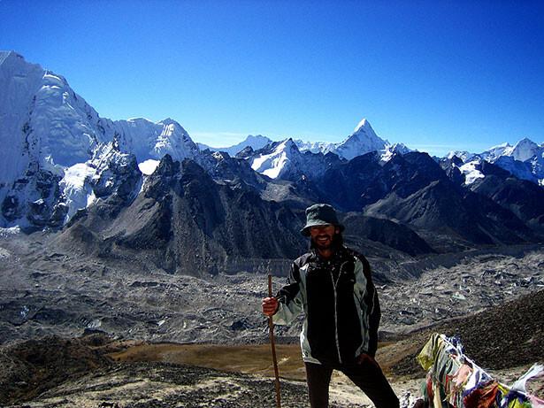 Con las vistas del Kala Patthar a mis espaldas