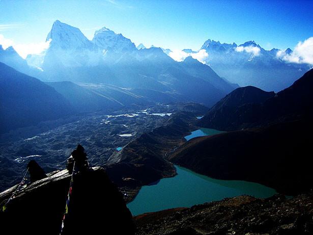 Vistas al sur desde el pico de Gokyo