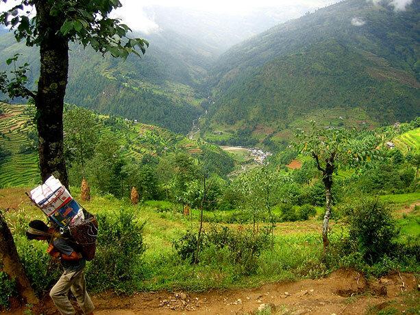 Sherpa partiendo de Jiri