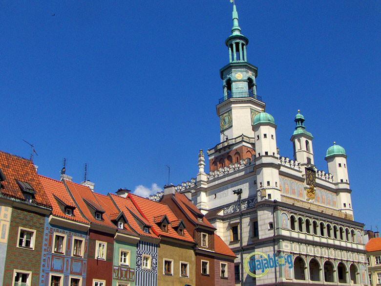 El centro histórico de Poznan en Polonia