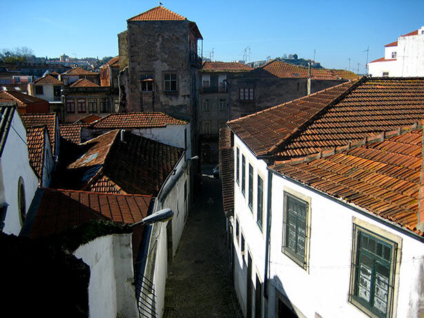 Detalle del centro de Oporto