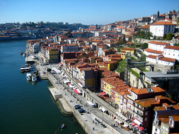Vistas a la ciudad desde el puente de Dom Luis I