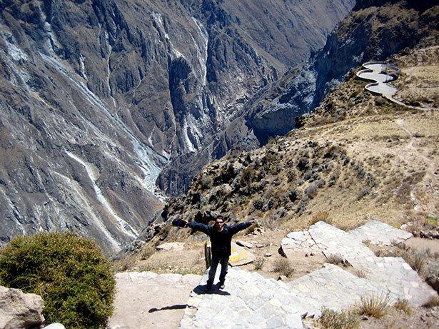 En el cañón de Colca