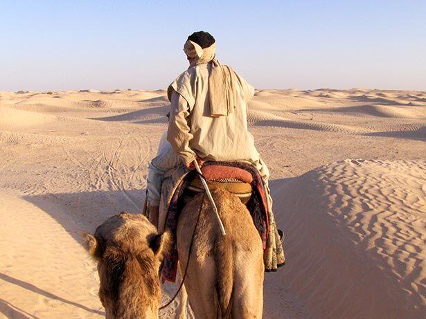 Desierto en Douz, Túnez