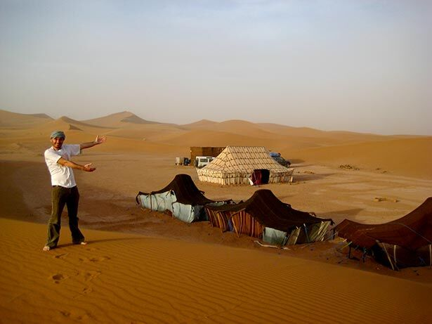 Haima en Erg Chegaga, Marruecos