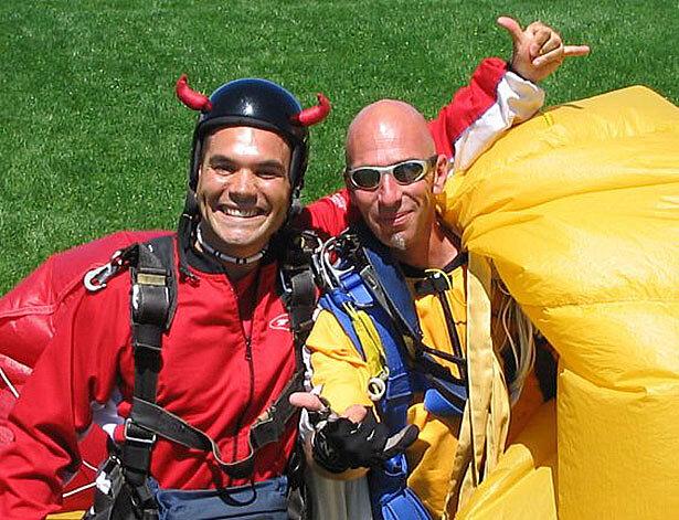 Sergi tras saltar por los aires en Taupo, Nueva Zelanda