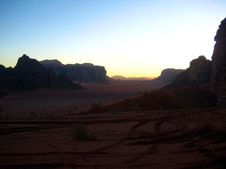 Atardecer en Wadi Rum