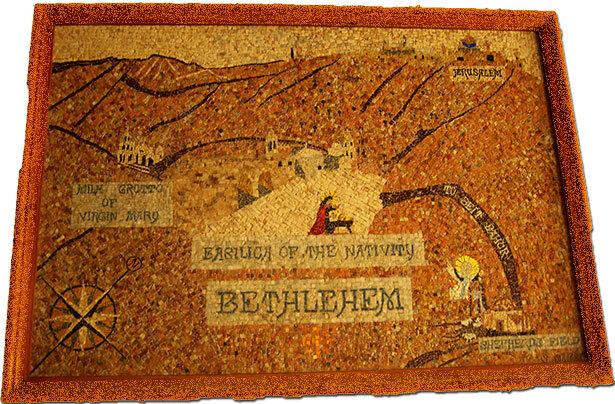 Antiguo mapa de rebiosa actualidad para visitar los lugares turísticos de Belén