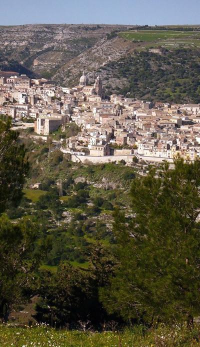 Vista aérea a Ragusa Ibla