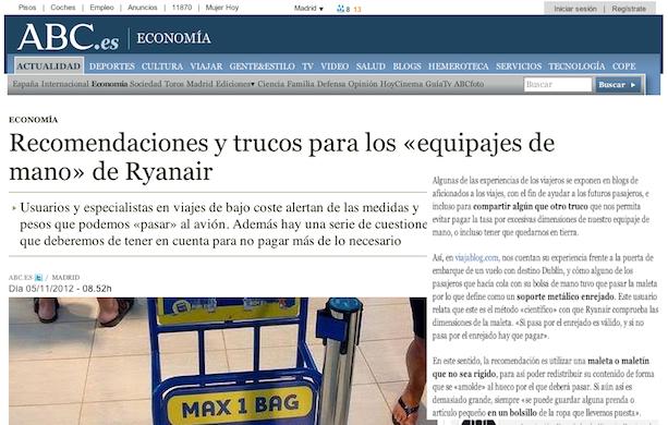 ABC Suplemento Economia Referencia Viajablog Ryanair