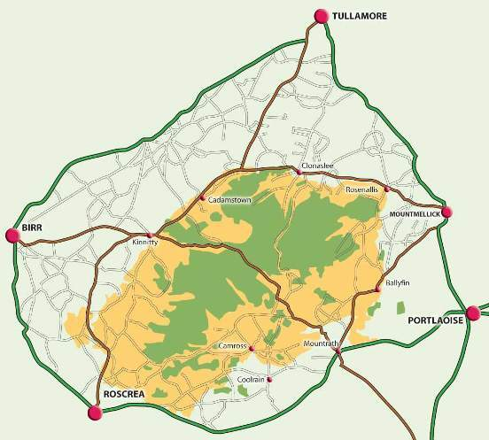 mapa slieve bloom