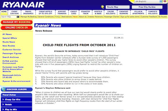 Ryanair Sin Niños