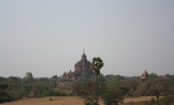 Vistas de los templos de Bagan