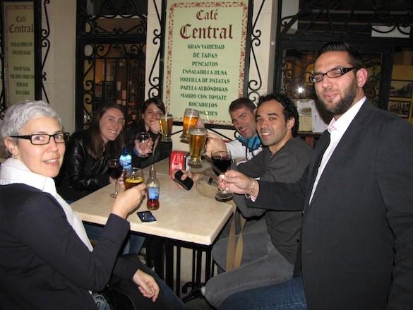 Café Central en Málaga