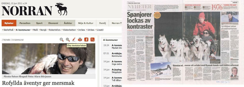 Entrevista y aparición en los medios suecos tras la visita a Laponia sueca