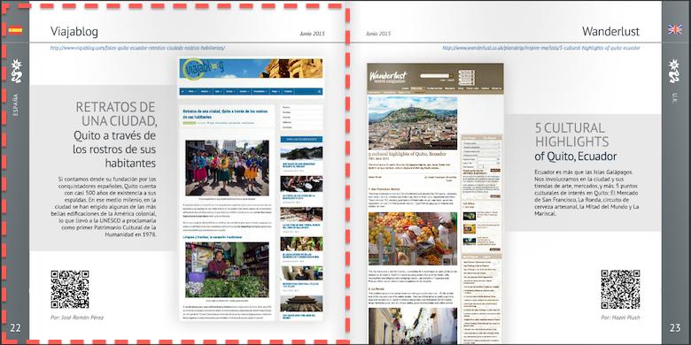 Publicaciones prensa internacional,  Quito Turismo y Viajablog