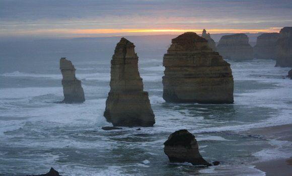 Atardecer en los Doce Apóstoles de la Great Ocean Road