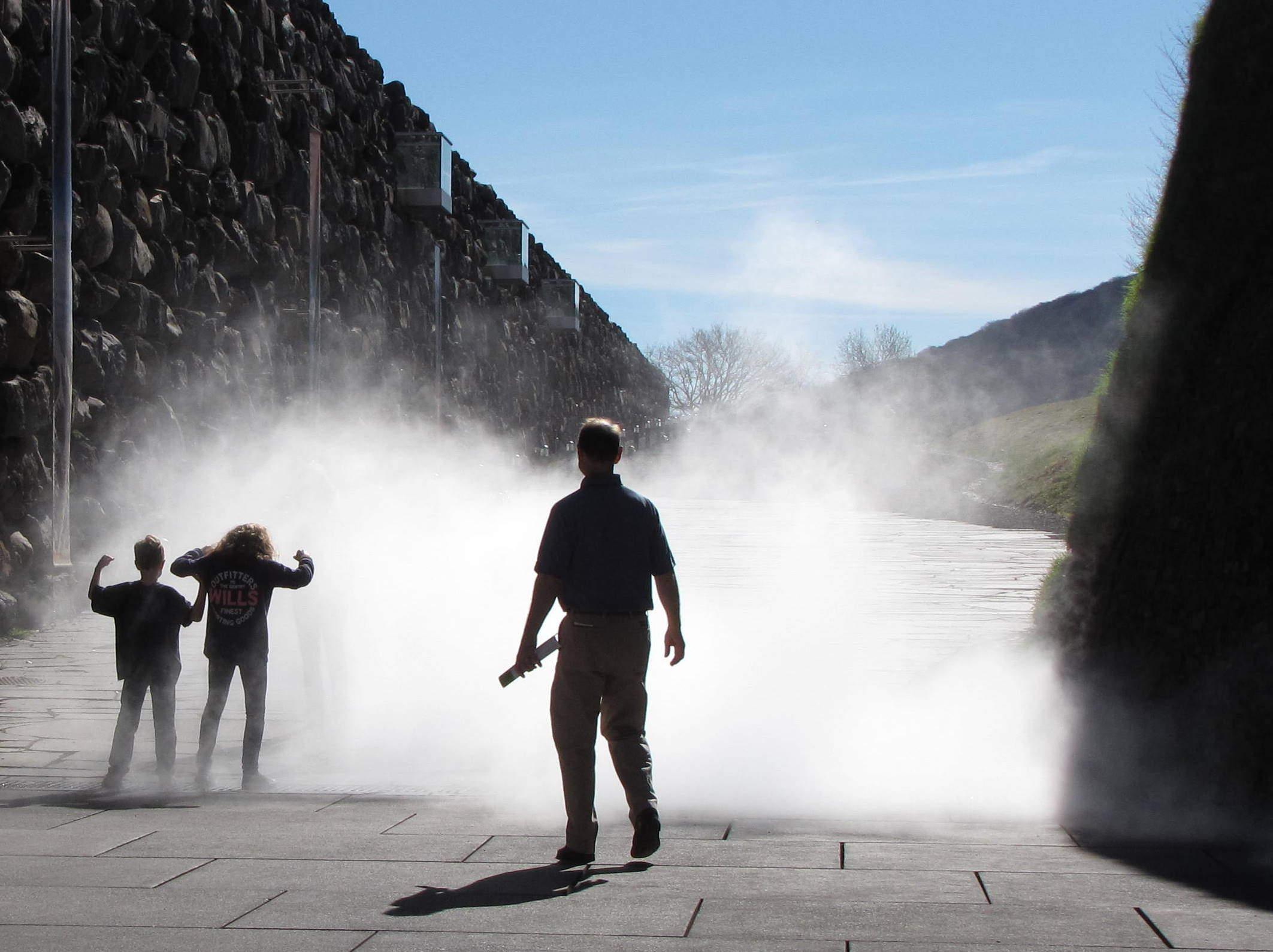 Nube de vapor de agua en Vulcania