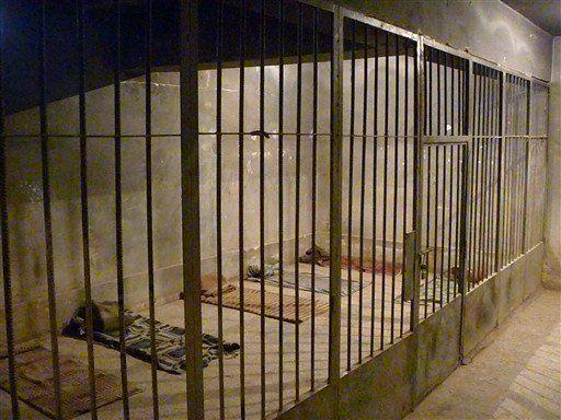 Celdas en la prisión Amna Suraka (Sulemaniya, Iraq)