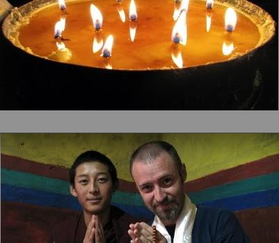 Velas, monje budista y avistu en Tibet