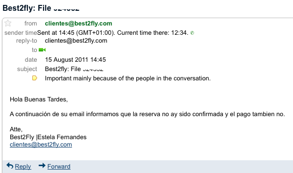 Email best2fly 15Agosto
