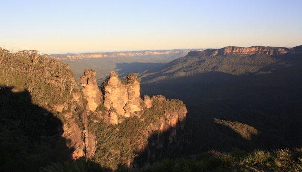 Las Three Sisters, emblema del parque de Blue Mountains