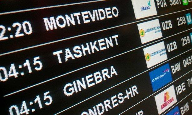 monitor aeropuerto