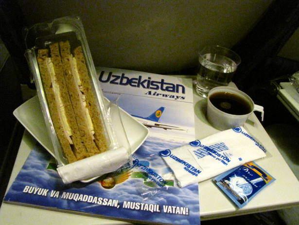 sandwich uzbekistan airways