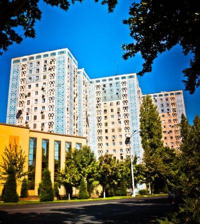 Edificios de apartamentos en Tashkent