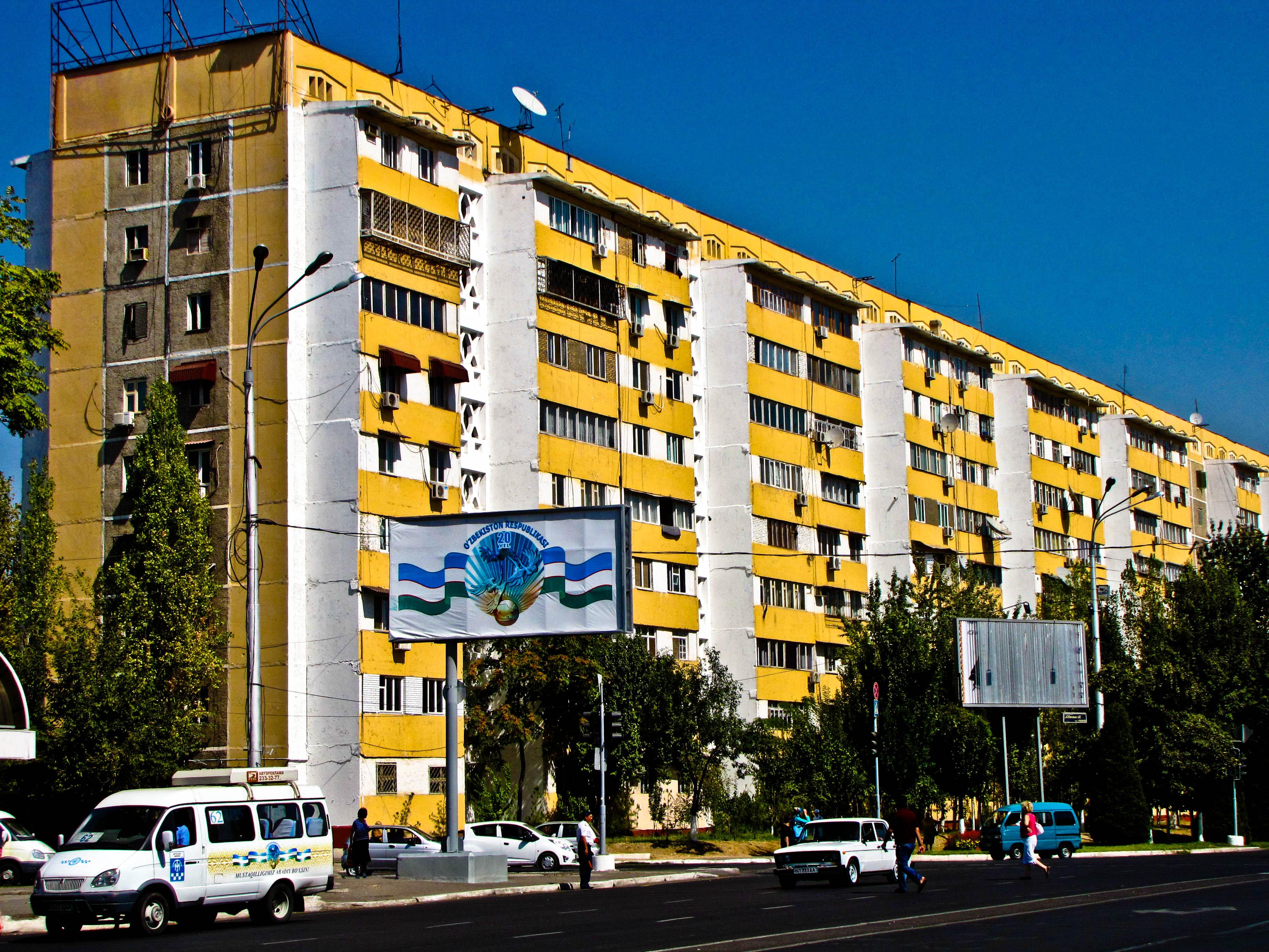 Bloques de pisos en Tashkent