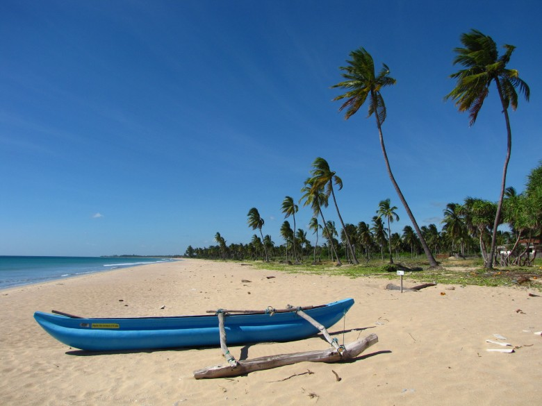 Playa de Nilaveli en Sri Lanka