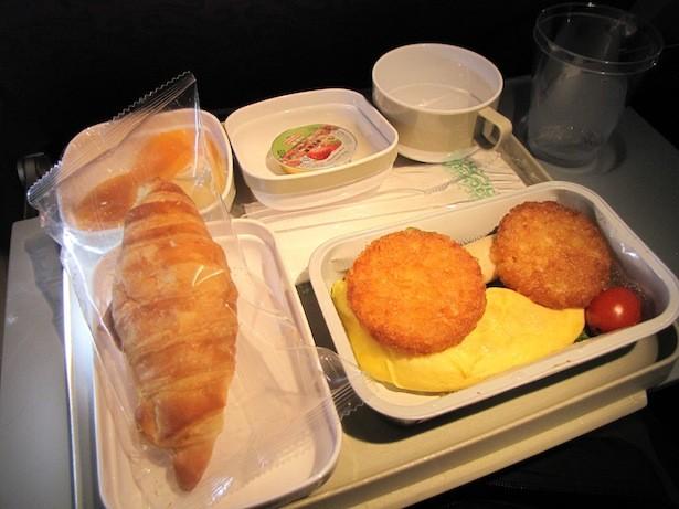 Air China, desayuno Beijing - Hong Kong