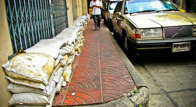 Protección ante las inundaciones en Chinatown, Bangkok