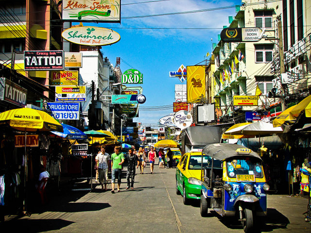 Khao San Road en Bangkok