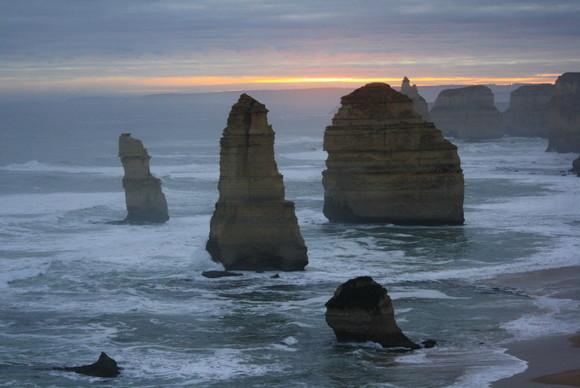 Los espectaculares 12 Apóstoles de la Great Ocean Road al atardecer