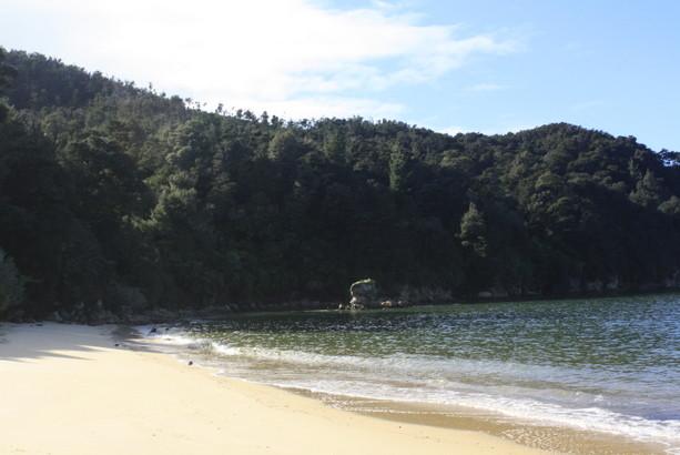 El Parque Nacional de Abel Tasman. Isla Sur de Nueva Zelanda