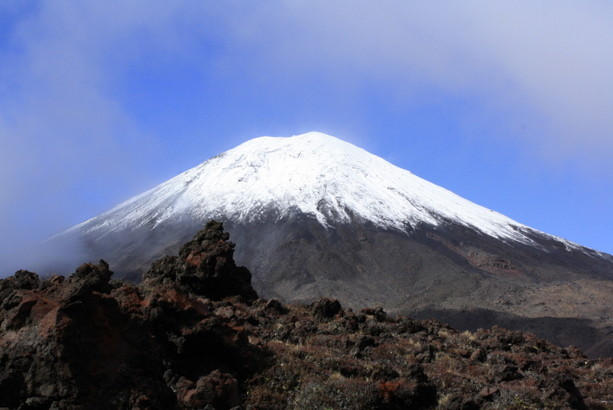 El volcán Ngauruhoe. Imponente Monte del Destino.