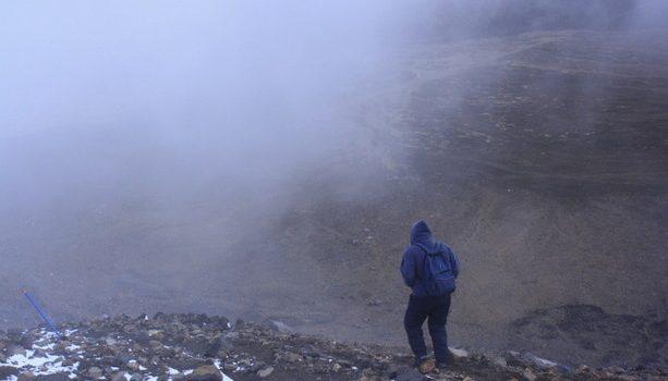 Siendo persguidos por los orcos, la niebla y el frío...¡me tocó correr!.