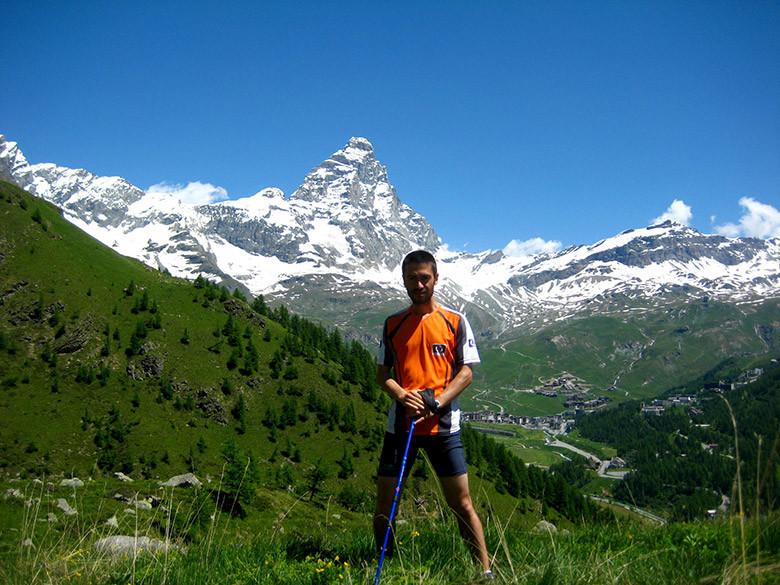 Llegando al monte Cervino