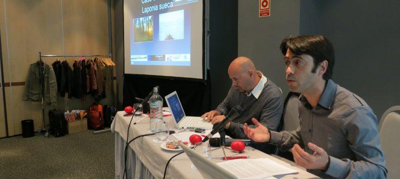 Quique de Viajablog presentando el caso de exito de Laponia