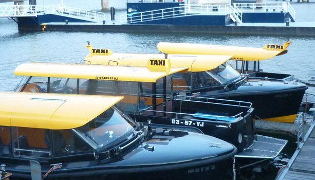 Los Water Taxis de Rotterdam.