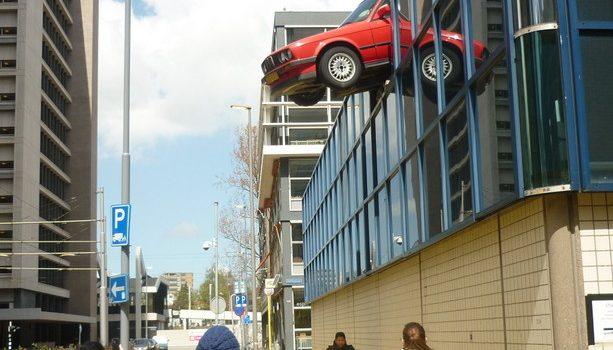Una de las curiosidades que puedes encontrar por las calles del centro de Rotterdam