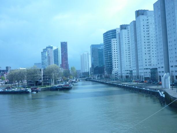 Vista desde mi habitación del Inntel Hotel de Rotterdam.
