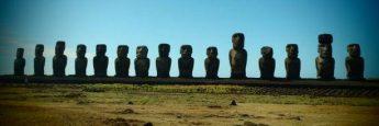 Grupo de Moais en Isla de Pascua