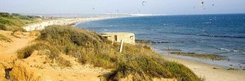 Bunker y kite surfing en la Playa de los Lances (Tarifa)
