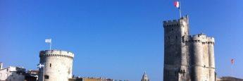 Las dos torres que franquean el puerto de La Rochelle.