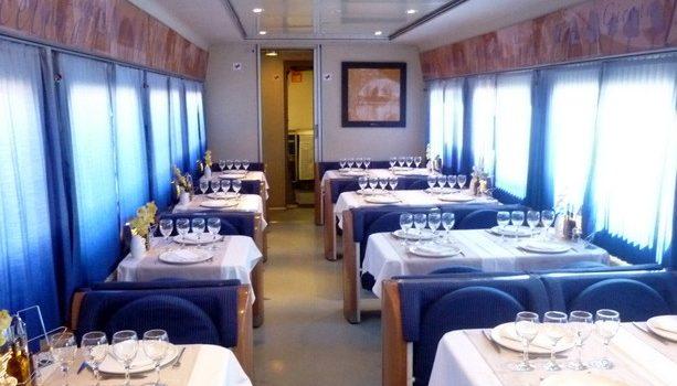 El restaurante del trenhotel Elipsos que hace el recorrido Madrid-París.