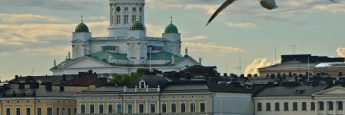Catedral de Helsinki desde el ferri a Suomelinna